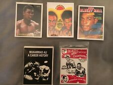 5 sets of boxing cards .cassius clay, Ali, Frazier, Bruno, Marciano