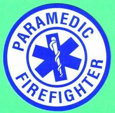 EMT Decal/Sticker Round (PARAMEDIC FIREFIGHTER) Round 3 Inch