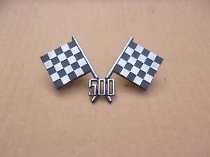 NEW 1956 Dodge Coronet Custom Royal D500 Cross Checkered Flag Emblem