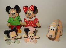 LOt 5 figurines DISNEY Family MICKEY MINNIE Pluto bébés SIMBA Vintage année 80