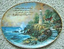 """""""The Light of Peace""""Collector' ;s Plate Thomas Kinkade's Guiding Lights #113089-A"""