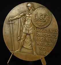 Médaille guerrier grec en armes Lloyd continental Robert Coin 1954 Roubaix medal