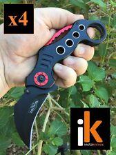 Lot of 4 RT-7025BK Razor Tactical Spring Assisted Knife Karambit #insta_knives