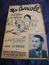 Partition Ma Carriole de Guy Lafarge Jean Lumière