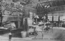 Buck Hill Falls Pennsylvania Greenleaf Library Interior  Antique PC K29714