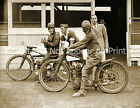 """1937 Motorcycle Racers, Empire Speedways Vintage/ Old Photo 8.5"""" x 11"""" Reprint"""
