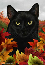 New listing Fall House Flag - Black Cat 13951
