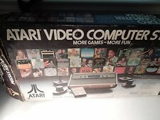 Original Atari 2600 4 Switch Woodgrain Console System (IN BOX, TESTED) #S905
