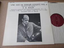 the art of JOSEF SZIGETI BACH SONATAS & PARTITAS 1 2  3 LIVE 1946/49 WSA 706 LP