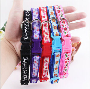10PCS Lot Wholesale Small Dog Collar Cat Collars Pet Strap Necklace With Bell