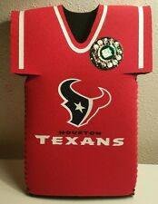 Houston Texans NFL Budweiser - Bud light Bottle Jersey Cooler  (Koozie) Red
