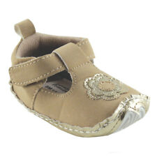 NEW LOVABLE FRIENDS TAN FLORAL BABY BOOTIES/SHOES SZ 12-18 MONTHS
