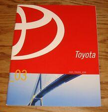 Original 2003 Toyota Car & Truck Full Line Sales Brochure 03 MR2 Spyder Camry