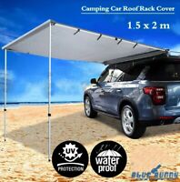 1.5x2m Awning Extension Rack Car SUV Roof Extension Camping Outdoor Tent Shelter
