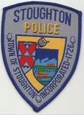 Stoughton MASSACHUSETTS MA Police patch