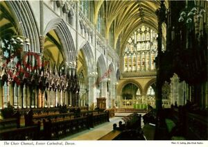 Picture Postcard> Exeter Cathedral, the Choir Chancel
