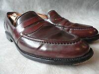 ALLEN EDMONDS Shell Cordovan 4889 Randolph Penny Loafers Slip-on 9.5B Shoes 9.5