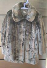 Wallace Sacks Luxury Collection Women's Black Faux Fur Winter Coat UK10