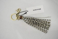 NWT Brahmin Leather Long Tassel Key Ring in Onyx Java. Beautiful Accessory