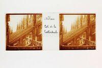Milan Cattedrale Italia Placca Da Lente Stereo Positive Ca 1905