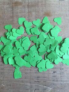 600 Romantic Green  Paper Hearts Wedding Table Decoration/Confetti-1.5cm