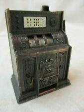 Vintage Hong Kong Die Cast metal Pencil Sharpener Slot Machine