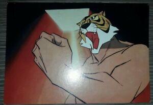 Cartoncino pubblicitario UOMO TIGRE  formato cartolina 11 X 16 CM MOD 1