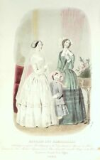 French CONSEILLER DAMES SEWING PATTERN March 1849 Corsage - broderie