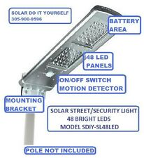 Security Light, Solar Security Light, 2000 Lumens, 200 Watts, 48 LEDs