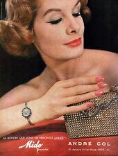 ▬► Publicité Montre Watch MIDO André Col Cartier Original French Print ad 1959