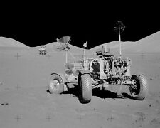 APOLLO 17 LUNAR ROVING VEHICLE AT FINAL MOON RESTING PLACE - 8X10 PHOTO (BB-074)