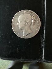 Great Britain Crown, 1845 Queen Victoria  Silver