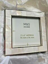 BNIB New Boxed Marks Spencer M&S Home Photo Frame - Eva - 3x3 inch 8x8cm