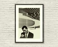 Twilight Zone Poster, Rod Serling, Black and White, MidCentury Modern Poster