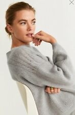 Woman pure cashmere cable knit Sweater , jumper size M UK 10 new,mango RRP 140£