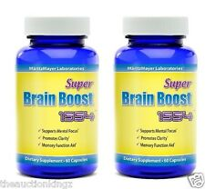Brain Supplement Pills Nootropic Limitless Focus Memory Stimulate Mind 2 Pack