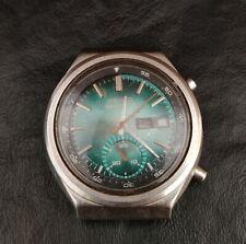 Vintage Seiko 6139-5050 Chronograph Automatic Watch Blue Eye Japan Calender