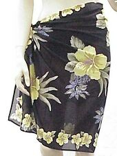 Tommy Bahama Yellow Hibiscus Pareo Swim Wrap Cover Up Skirt $76 Retail NWT