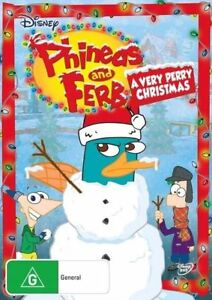 A Very Perry Christmas DVD Phineas And Ferb DISNEY G Rated Show - REG 4 AUST