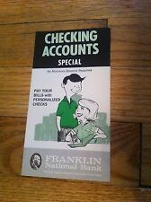 Vintage Franklin National Bank Checking Account Special  Brochure New York NY