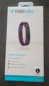 Fitbit Alta Activity step Tracker Large Plum never worn Purple free shipping!
