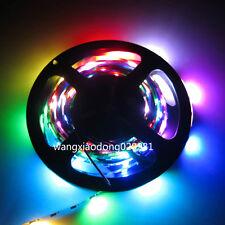 5M 150 LED WS2812B 5050 RGB 2811 Strip Light Individual Addressable NP 5V Black