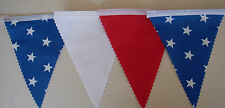 STARS blue Red & white football Bunting Bedroom Decoration Gift 2mt or more