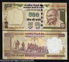 INDIA 500 RUPEES P99 2006 GANDHI DANDI MARCH STATUE UNC INDIAN MONEY BILL NOTE