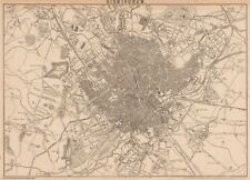 BIRMINGHAM. Large town/city plan by JW LOWRY for the Dispatch Atlas 1862 map