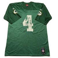 Reebok NFL Men's Size Large Green Bay Packers Brett Favre Green Jersey #4