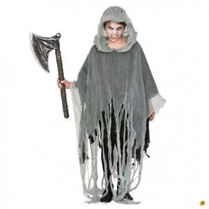 Kinder Poncho Zombie grau Einhgr. Fetzen Umhang Gewand  Halloween Fasching