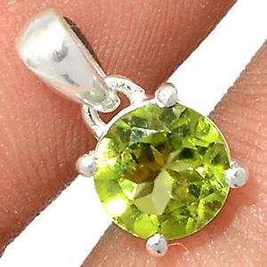 Peridot 925 Sterling Silver Pendant Jewelry BP95055