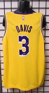 Anthony Davis LA Lakers Signed Gold Swingman Jersey - Upper Deck COA