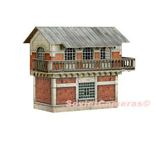 1/87 HO Scale Building Switch Signal Control Tower Railway Cardboard Model Kit